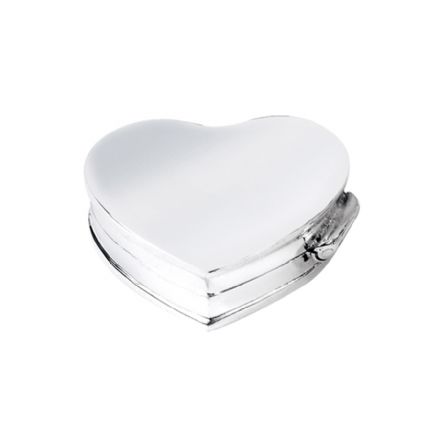 Sterling Silver Heart Shaped Pillbox